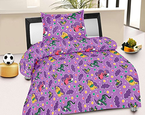 Jiya Decor 100% Cotton Single Bed Sheet With 1 Pillow Cover- S-CK1045