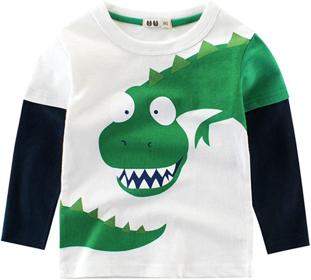 Mrsrui Boys Kids Long Sleeve Cotton T-Shirts Cartoon Tops