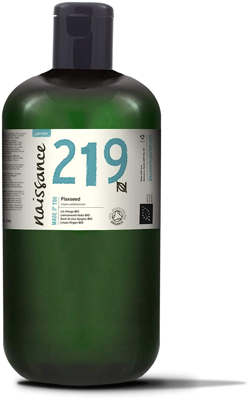 Naissance Certified Organic Virgin Flaxseed (Linseed) Oil 32 fl oz - Pure & Natural, Unrefined, Vegan, Hexane Free, Non GMO - Moisturising & Nourishing Oil for Hair & Skin