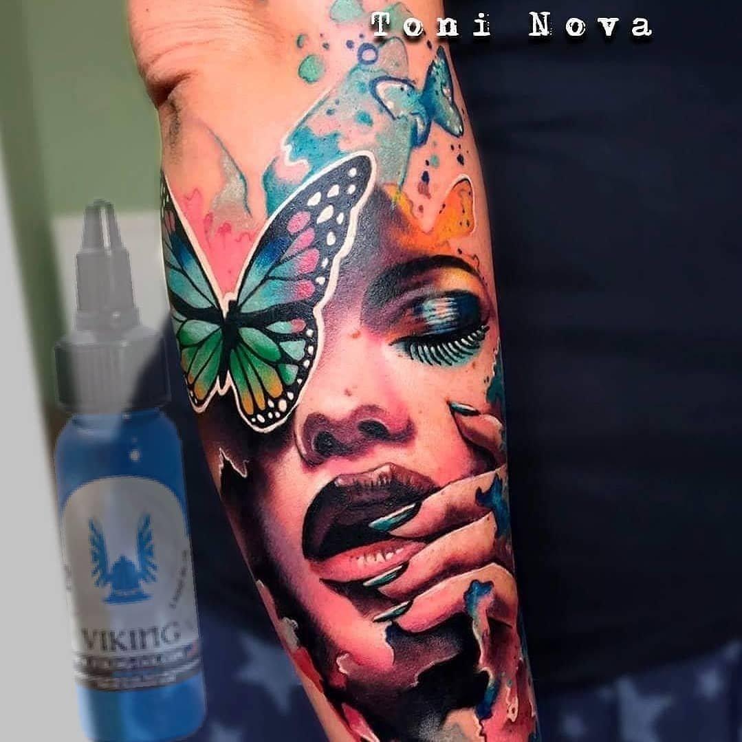 Tinta para tatuaje. Set 6 colores 1 OZ VIKING INK: Amazon.es ...