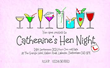30 magnetic hen party invitations personalised for you drinks hen