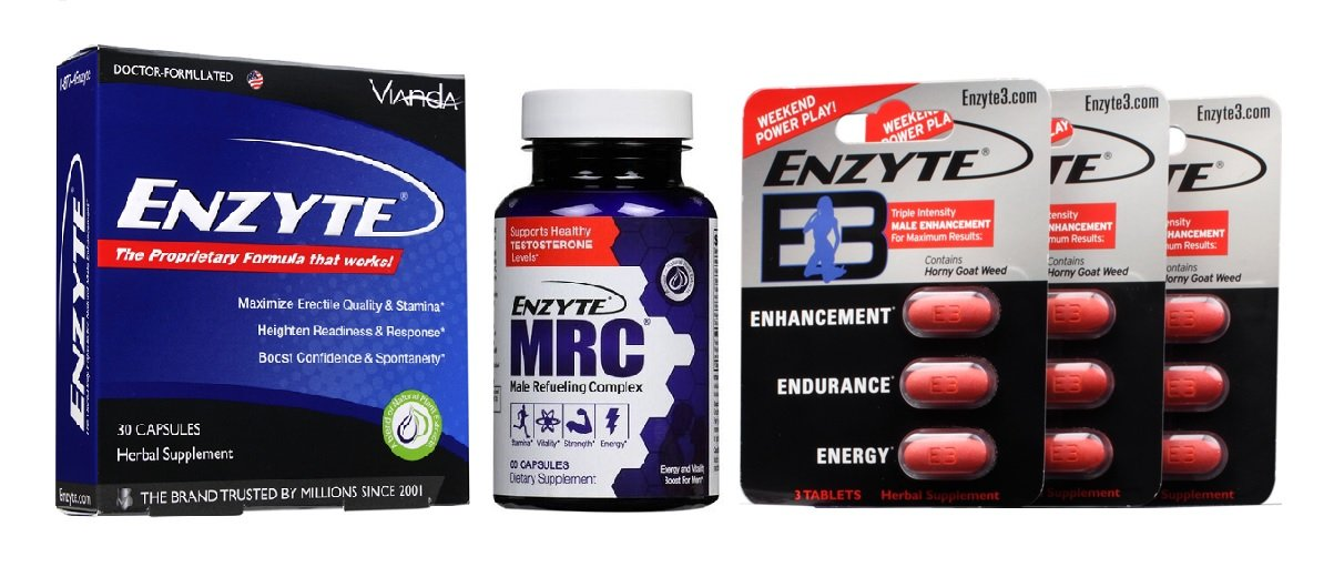 Enzyte® Brand Trifecta Pack | Enzyte® + Enzyte MRC® + Enzyte3® | Natural Male Enhancement + Testosterone Support + Triple Intensity Enhancement