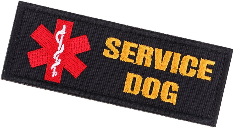 Service Dog Paramedic Star of Life Tactical Patch Hook Loop for Pet Vest Harness