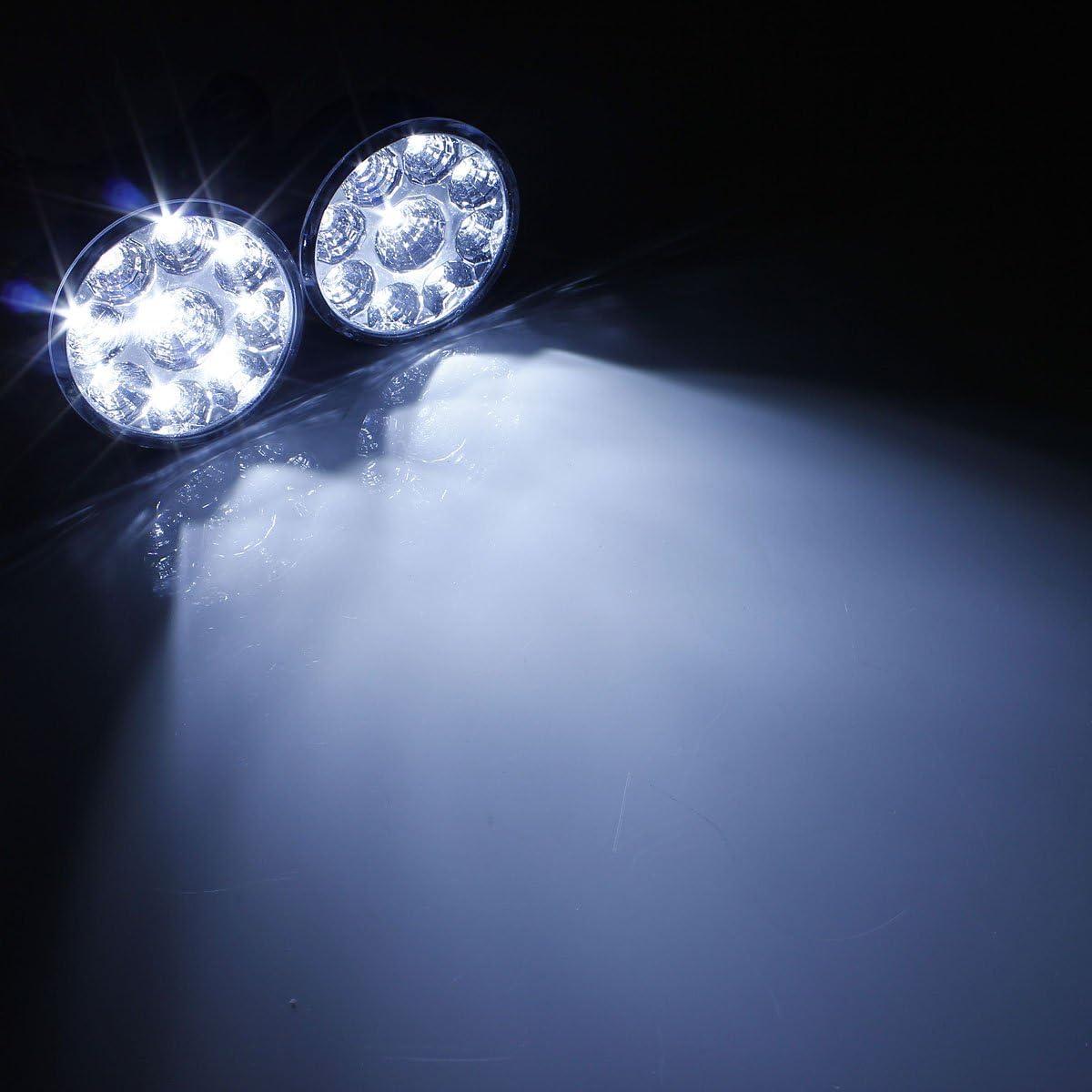 Nrpfell 50W Une Men/é la Lampe de Tache de Barre Feux Brouillard,la Lumi/èRe de la Conduisant la Lumi/èRe de Brouillard 2Pcs Lumineux Superbes pour la Moto de Bateau du Camion ATV SUV
