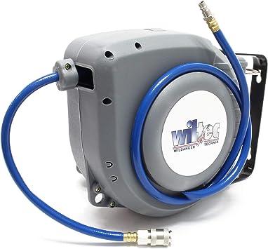 vidaXL Automatic Air Hose Reel 1//4 12m+1m Garage Workshop Compressor Tool