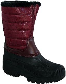 Adults Waterproof Sole Fur Lined Rain Snow Ski Mucker Boots Size 38