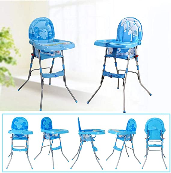 Blau YIYIBY Baby F/ütterung Hochstuhl 4 in 1 rutschfeste tragbare Hochst/ühle mit Fach Sicherheitsgurt f/ür 6 Monate bis 3 Jahre