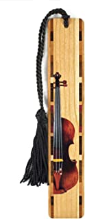 product image for Personalized Violin - Musical Instrument - Colorful Wooden Bookmark with Tassel - Search B011PIWMZQ for Non-Personalized Version