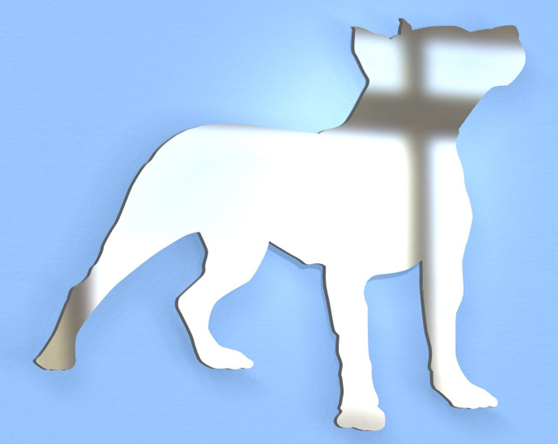 Staffordshire Bull Terrier Dog Mirror - Available in various sizes, including sets for crafting kits - 35cm x 28cm