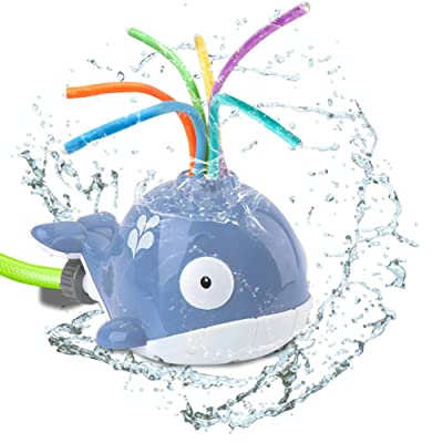 Whale Spray Baby Toy, Spray Water Baby Bath Toy Bathing Toy Water Spray Bathtub Toys Cartoon Rotatable Baby Water Sprinkle Doll Toy for Bathroom Backyard: Home & Kitchen