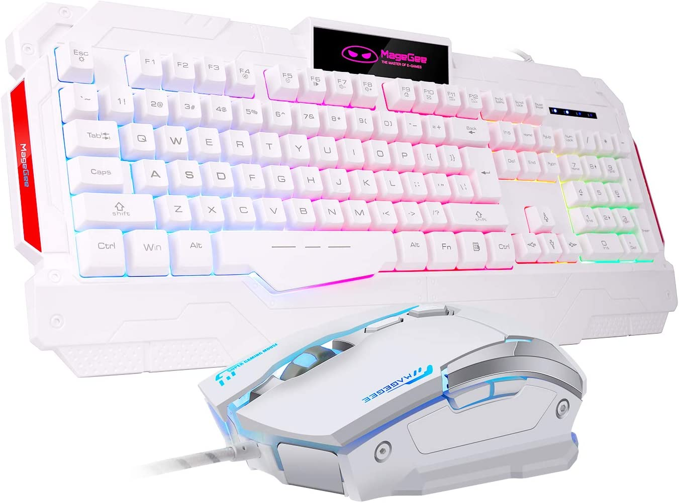 Qi Peng Game Mechanical Keyboard Color : White 8 Kinds of Mixed Light Mode Adjustable Mechanical Keyboard Keyboard Green Axis Office Eat Chicken Multicolor Backlight Esport Keyboard