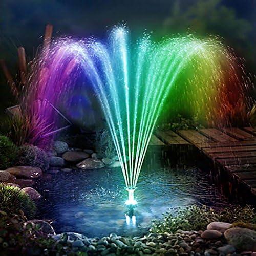 LED Solarpumpe Wasserbrunnen Gartenteich Springbrunnen Teichpumpe Fontäne Neu