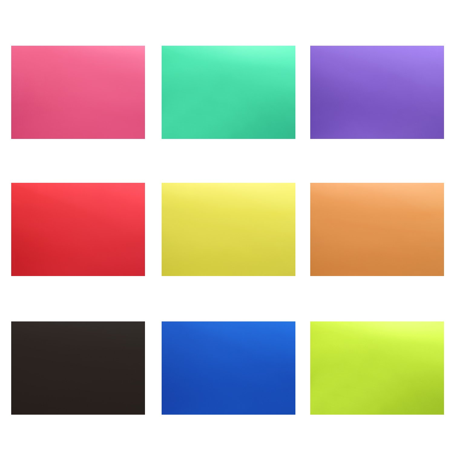 Neewer Correction Gel Light Filter Transparent Color 12x8.5 inches/30x20 centimeters 18 Sheet with 9 Colors: Red Blue Pink Cyan Purple Orange Green Yellow Black for Photo Studio Strobe Flash LED Light by Neewer