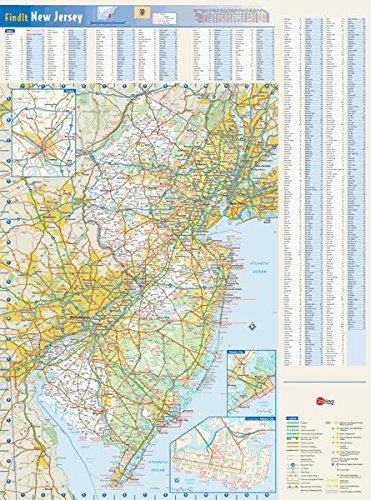Amazon Com New Jersey Laminated Wall Map By Geonova 35 X 48