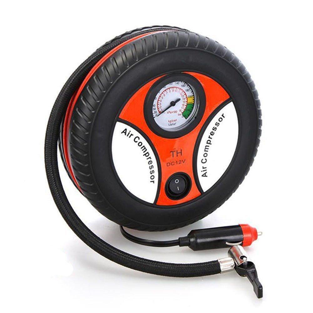 Bao Sheng@ Mini Portable Car Air Compressor 12v Auto Inflatable Pumps Electric Tire Inflaters 260psi (RH-12VDQB)