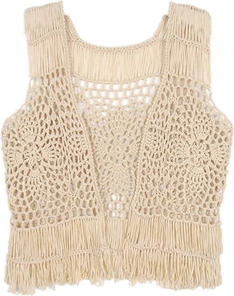 Crochet handmade heart crop tank top