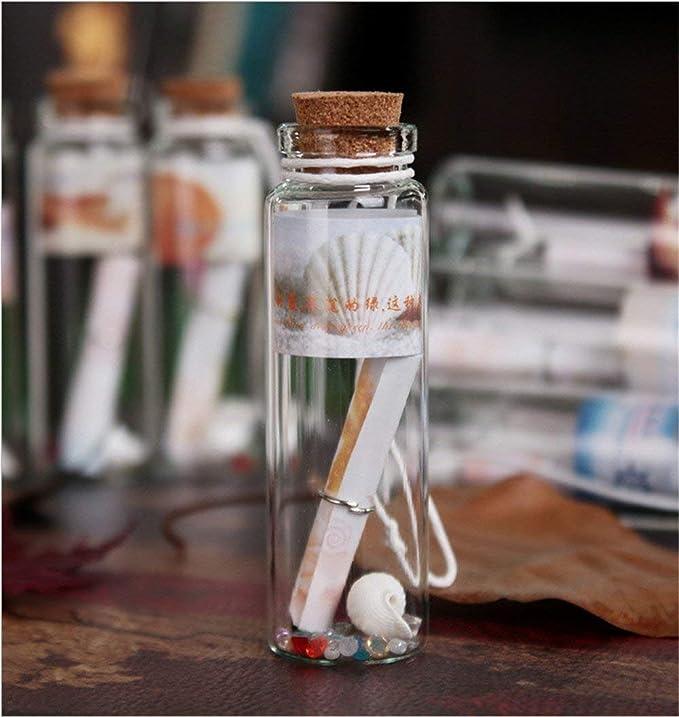 Danmu Art - Botes de cristal con tapones de corcho (12 unidades, 20 ml): Amazon.es: Jardín