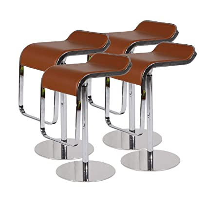 Miraculous Mlf Lem Style Piston Bar Stool Adjustable 27 2 33 1 Smooth Hydraulic Piston 360 Degrees Swivel Spin Smooth Brown Italian Leather Seat Pdpeps Interior Chair Design Pdpepsorg