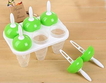 Compra qearly 6 St. DIY Hielo piruleta Mango Hielo Formas Hielo Formas mejor helado Formas Ice Cream Moulds en Amazon.es