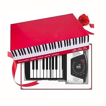 Pianos Teclados Instrumentos Musicales portátiles Plegables enrollados a Mano 88 Llaves Paquete de Regalo de Teclado