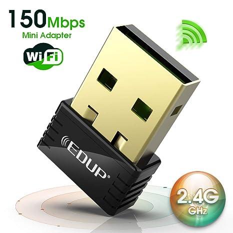 WiFi Adapter USB Wireless Nano Adapter 150Mbps Wireless N Dongle Supports  Windows 10/8/8 1/7/Xp Mac os