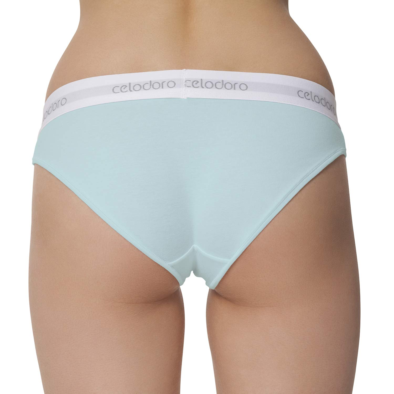963b5cfcb9 Celodoro Damen Slips - 3er Pack Unterhosen für Frauen Lady Underwear  schwarz weiß Rose blau türkis bis XL: Amazon.de: Bekleidung