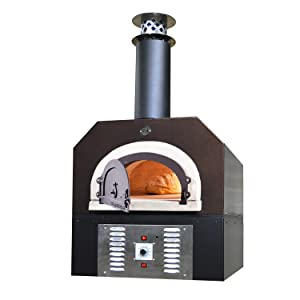 Chicago Brick Oven Natural Gas & Wood-Burning Residential Outdoor Pizza Oven, CBO-750 Hybrid Countertop with Copper Vein Hood