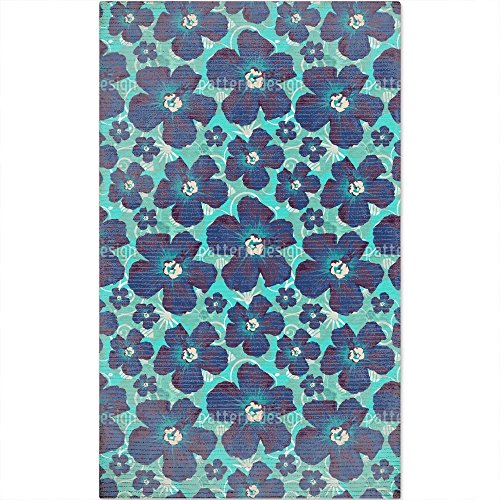 Hibiscus Hawaii Floor Covering/Mat: Small Soft and Stain Resistant by uneekee
