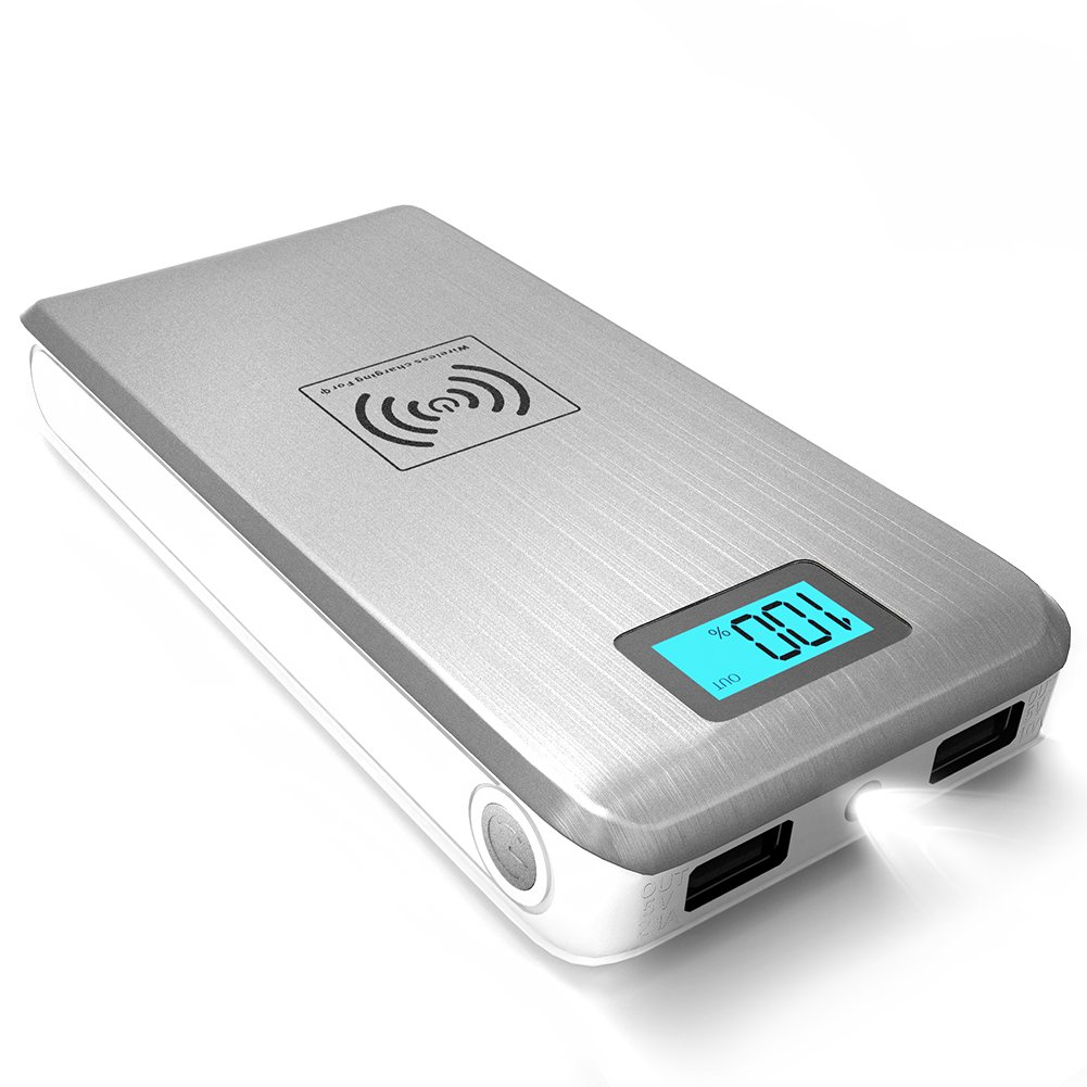 Qi Wireless Power Bank Clock With Extra Large Time And Date