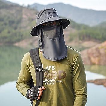 protezione UV con rete traspirante Kisbelly per pesca allaperto escursionismo Cappello da sole da uomo e donna