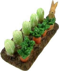 TG,LLC Treasure Gurus Miniature Vegetable Crop Bunny Rabbit Fairy Garden Accessory Cabbage Carrot Patch Mini Dollhouse Decor