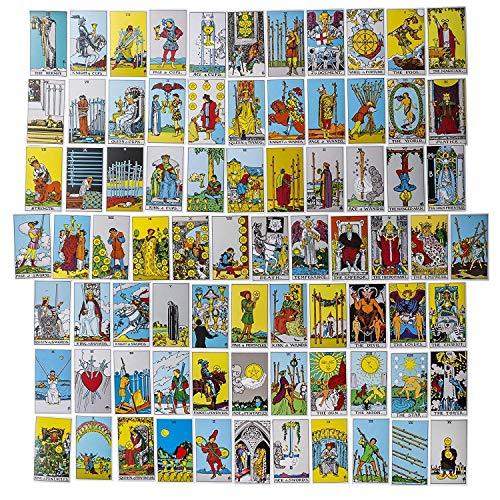 Mystercome Tarot Cards Original Tarot Deck Classic Tarot Cards Deck Travel Tarot Card Power Deck with Guide Booklet 78 Tarot Cards for Beginners