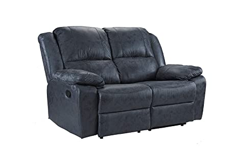 Peachy Casa Andrea Oversize 56 Inch Air Leather Recliner Living Room Loveseat Sofa Grey Caraccident5 Cool Chair Designs And Ideas Caraccident5Info