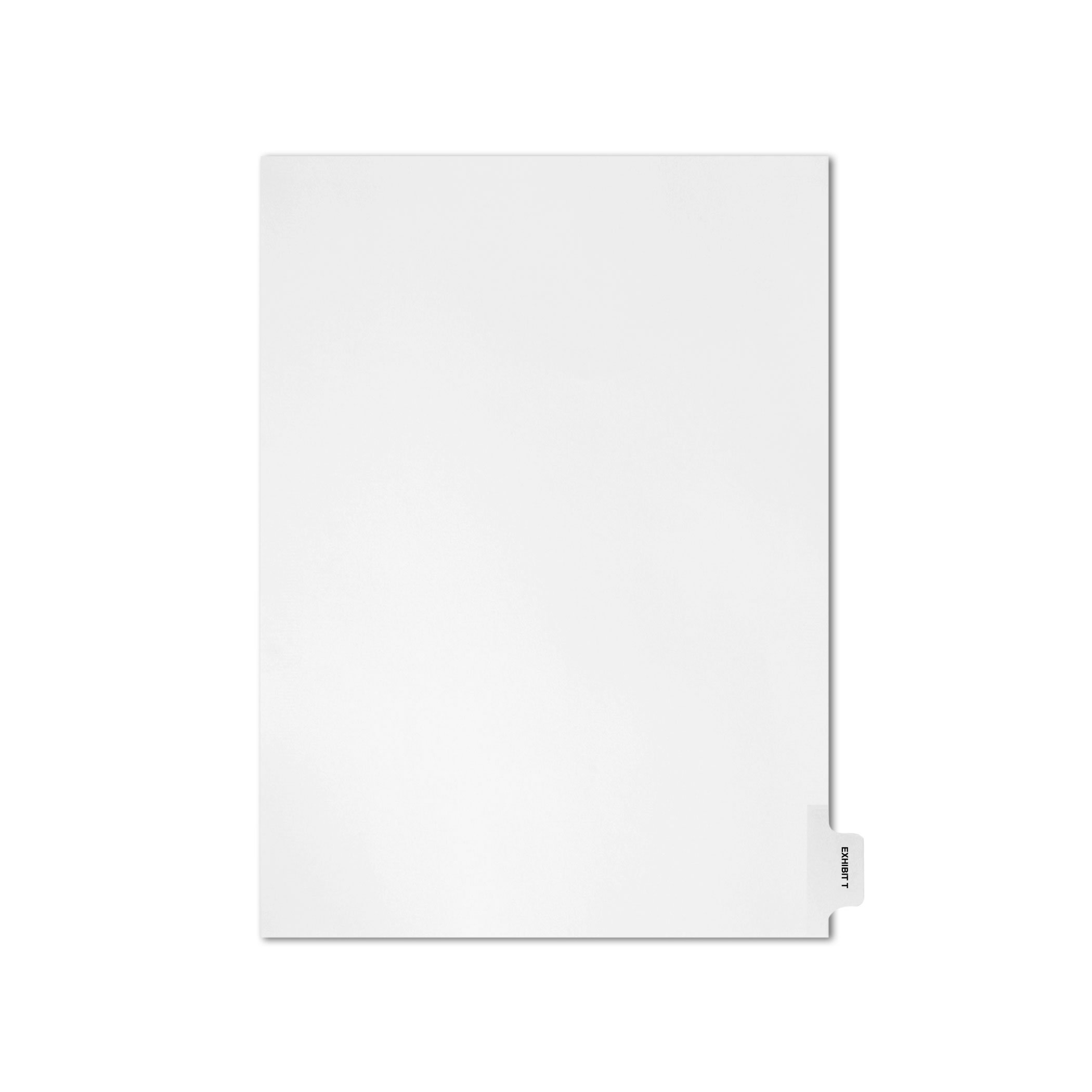 AMZfiling Individual Legal Index Tab Dividers, Compatible with Avery- Exhibit T, Side Tabs, Letter Size, White, Position 10 (25 Sheets/pkg)