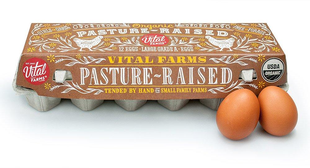 Vital Farms Organic Pasture-Raised Large Eggs 12ct