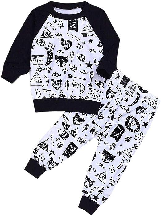 0-4 Años, SO-buts Recién Nacido Infantil Bebé Niño Animal Print Dibujos Animados Manga Larga Tops Camisa + Ocio Pantalones Ropa Suave Conjunto De Trajes: Amazon.es: Ropa y accesorios