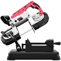 Anbull Portable Band Saw with Removable Alloy Steel Base, 45°-90° Metal Cutting, 10A 1100W Motor, 5-inch Deep Cut, with…