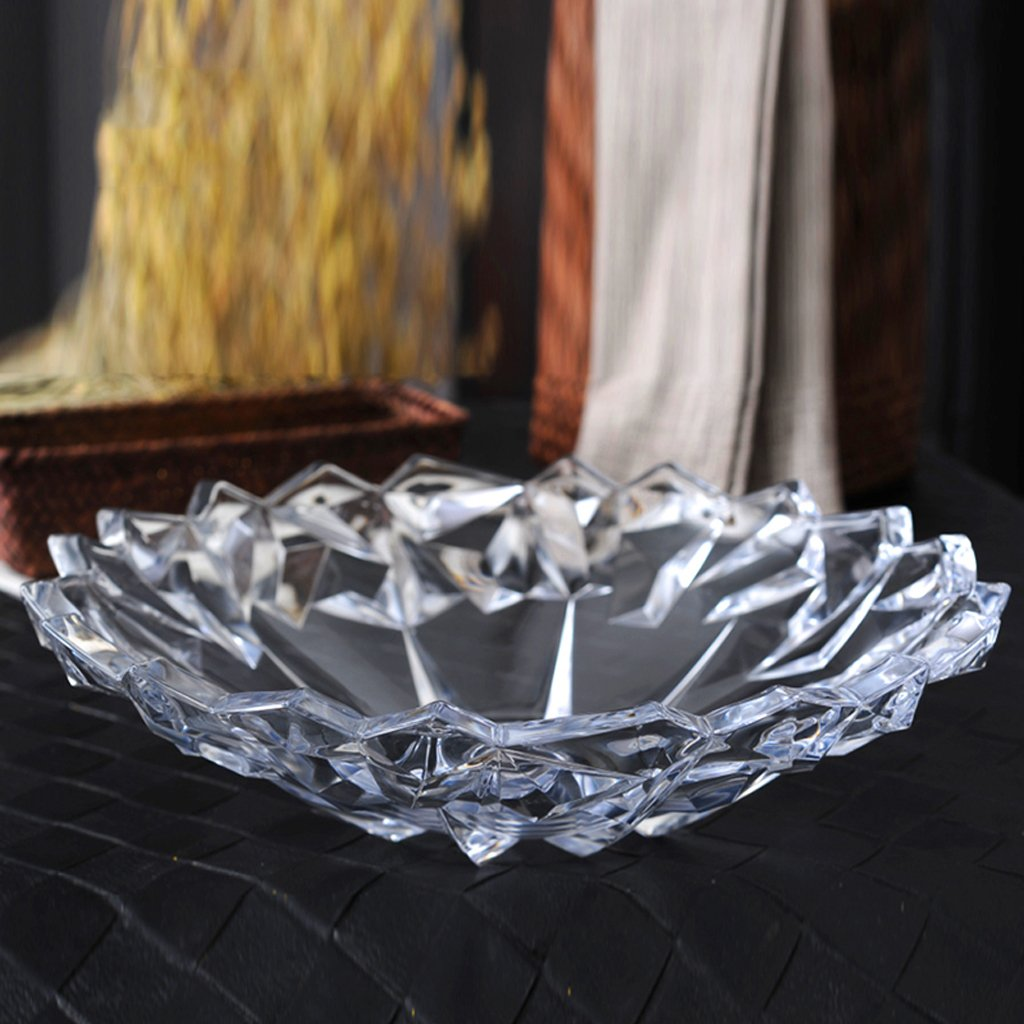 modern European style large glass fruit dish coffee table Home Decoration Fruit basket fruit Dried fruit plate