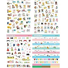 -8 Sheets Korea DIY Kawaii Diary PrettyZoo Animals Sticker Set – Deco Translucent Sticker Set