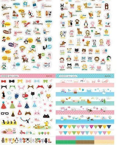 8-Sheets-Korea-DIY-Kawaii-Diary-PrettyZoo-Animals-Sticker-Set-Deco-Translucent-Sticker-Set