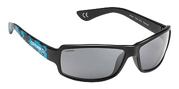 Cressi Ninja, Lunettes de Soleil Sport Homme Polarisées Anti UV - Blue Camou/Lentilles Gris Foncé
