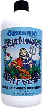 Neptune's Harvest 36 0z Fish & Seaweed Fertilizer For Vegetable Garden