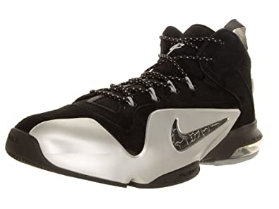 e6891e2d9e25 Nike Men s Zoom Penny Vi Black Metallic Silver Basketball Shoe 8