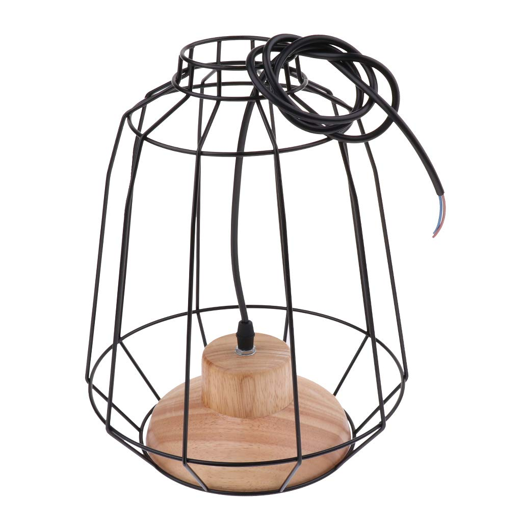 B Blesiya Iron Bulb Guard Lamp Cage Pendant Light, Lamp Holder, Ceiling Light Bulb Covers,Vintage Style,Lights Fixture