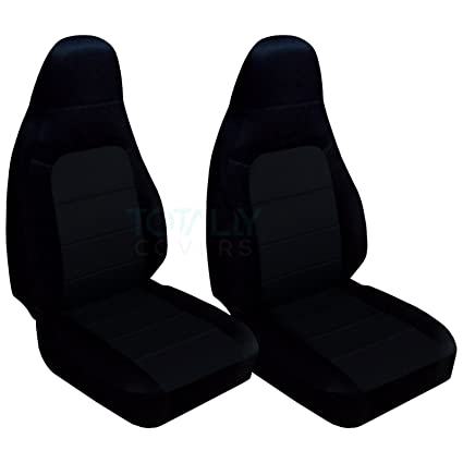Designcovers Fits 2001 2005 Mazda MX 5 Miata Seat Covers: Black (22