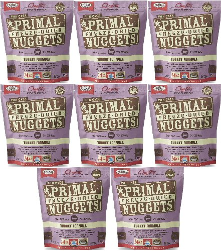 Primal Freeze-Dried Nuggets Turkey Formula for Cats 112oz (8 x 14oz) by Primal