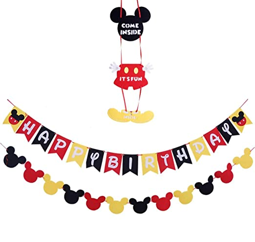 28 PCS Kit Decoraciones de cumpleaños de Mickey Mouse ...