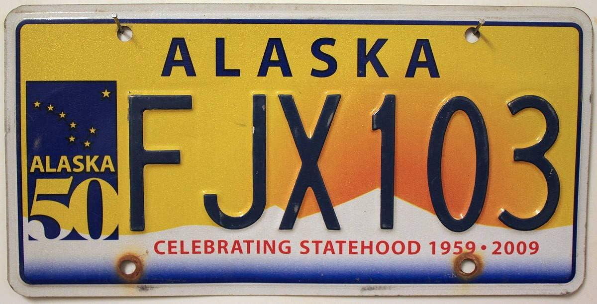Alaska Nummernschild Usa Autokennzeichen Us License Plate Motivschild Auto