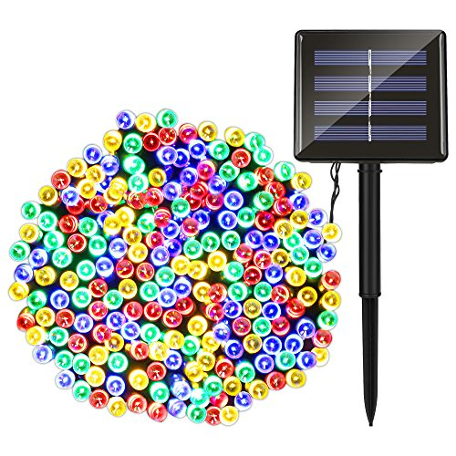 Outdoor String Lights, LEDMO 72ft 200 LED Solar Waterproo...