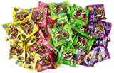 Sour Jacks Mouth-Puckering Candy 5-Flavor Variety: Ten 0.5 oz Packets Each of Original, Watermelon, Lemonade, Green Apple, and Wildberry in a BlackTie Box (50 Items Total)
